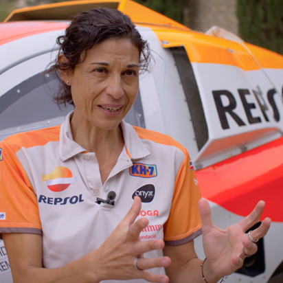 Interview with Lidia Guerrero, the physiotherapist for the Repsol Rally Team at the 2018 Dakar