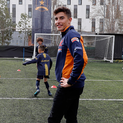 "Marc Márquez: a ""promising footballer"""