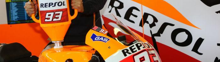 La gasolina del equipo Repsol Honda preparada para 2015